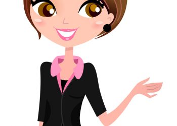 Business Woman Showing Something With Hand